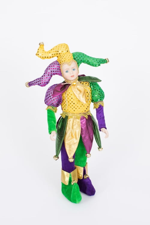 "15-194 16"" Standing Jester in Festive Clothing"