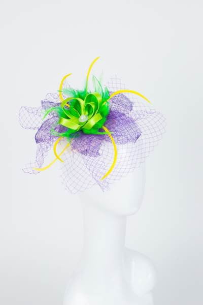 Ribbon Feather Hat