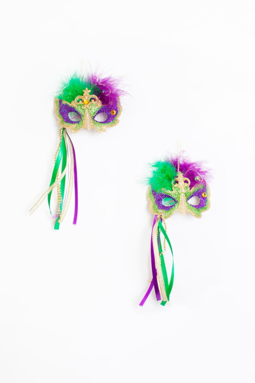 "3"" Mask Ornaments Assorted w Ribbon"