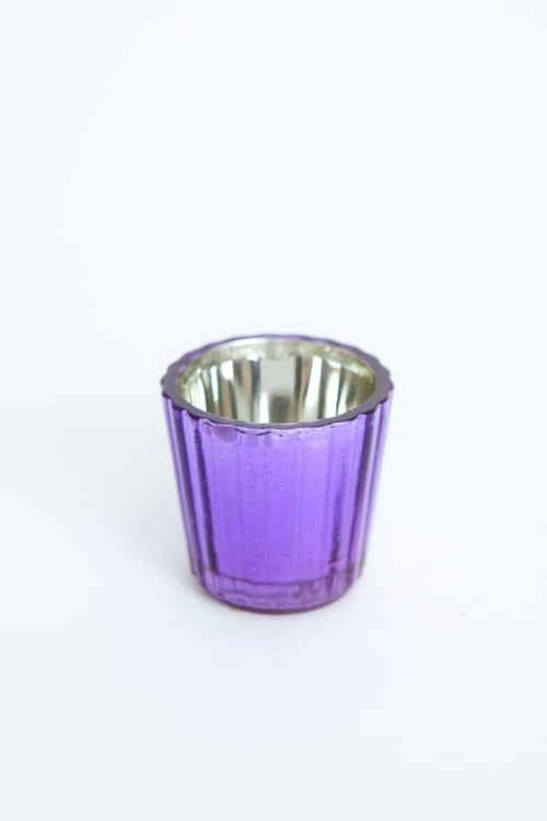 "2 3/8"" x 2 3/8"" PURPLE VOTIVE CANDLE HOLDER"