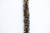 "4"" X 9' HEAVY SHRED MARDI GRAS GARLAND"