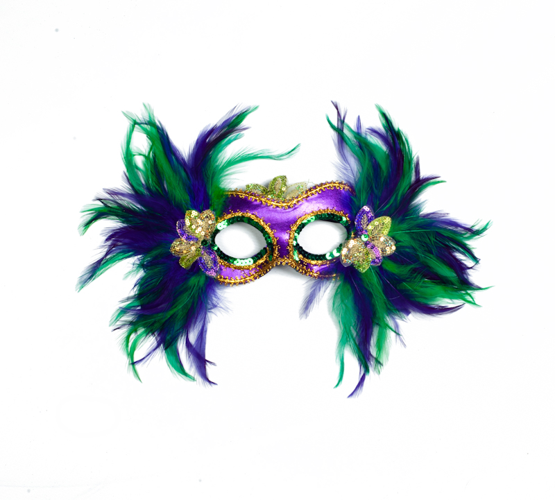 15 Quot X 10 Quot Mardi Gras Feather Mask The Mardi Gras Collections