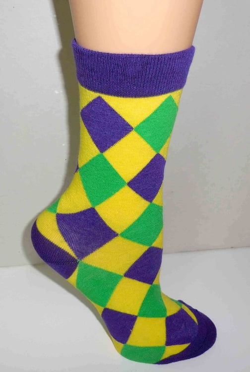 11-107 PGG Diamond Pattern Cotton Socks