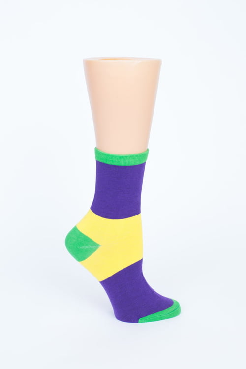 Mardi Gras Wide Stripe Socks