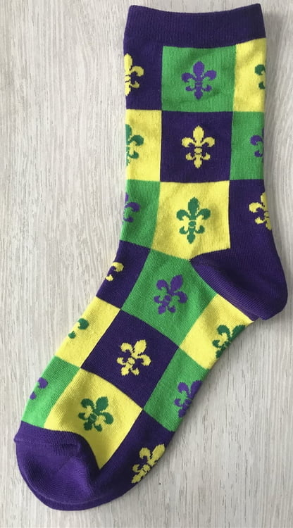 Mardi Gras Block FDL Women's Socks