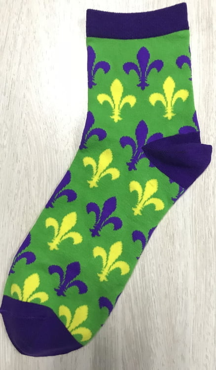 Mardi Gras Men's & Women's Socks