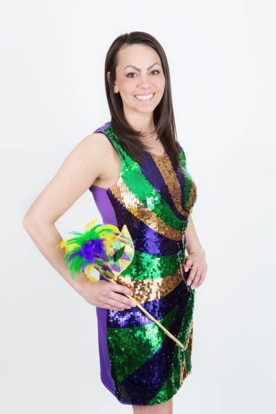 Mardi Gras Sequin Swirl Dress