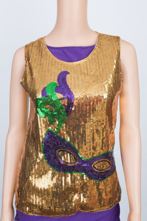 Mask Sequin Top L