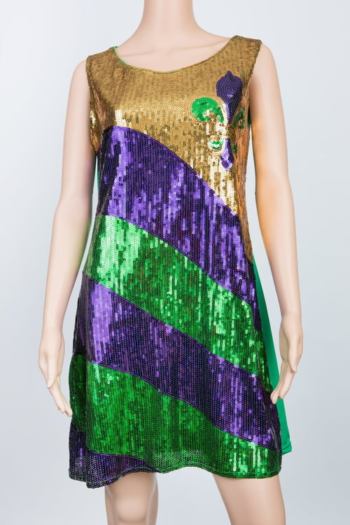 Fleur de lis Sequin Dress L