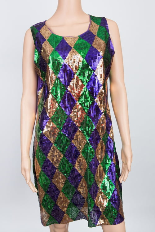 Harlequin Sequin Dress M