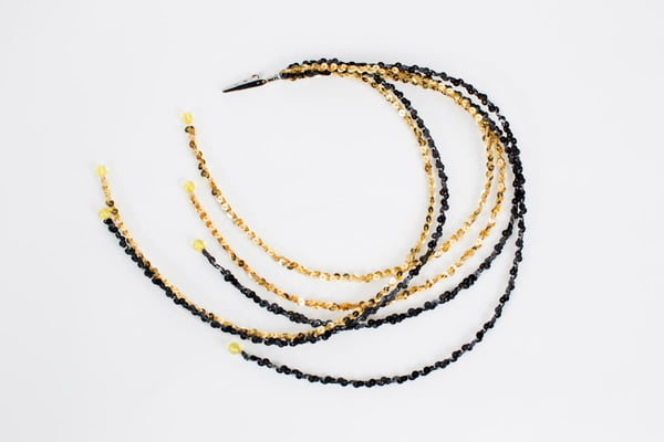 "25"" Gold/Black Sequin String"