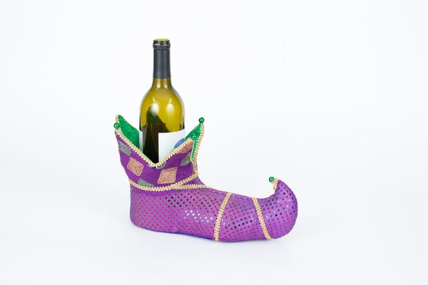 "11"" X 4"" X 7"" Jester Shoe Wine Holder or Centerpiece"