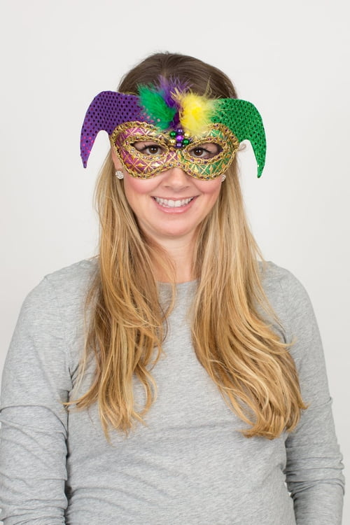 "11"" X 14"" Mardi Gras Fabric Mask"