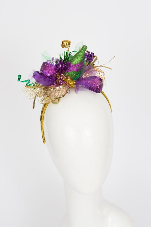 "5.5""X 8.5"" X 3"" Mardi Gras Celebration Headband"