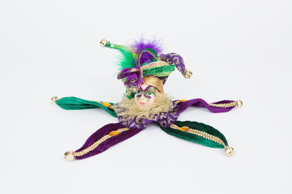 Mardi Gras Head Ornament
