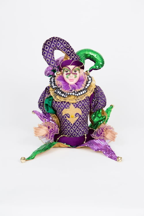 Mardi Gras Table Mask Jester