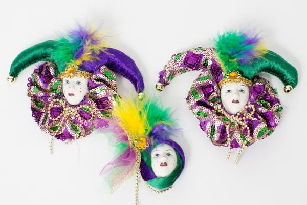 "4"" 3 Assorted Jester Ornaments"