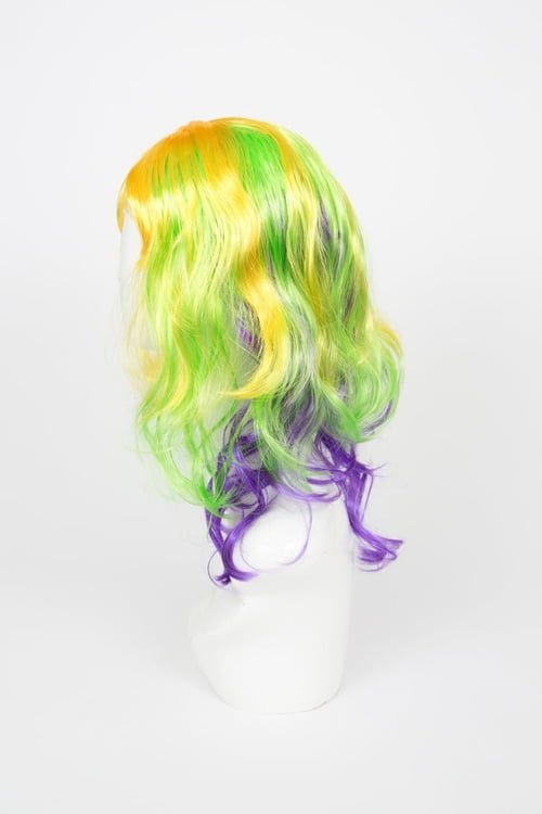 Full Head Mardi Gras Wig