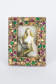 4X6 Photo Frame All over Jeweled
