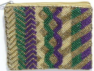 "4.5"" x 5.5"" Beaded Change Bag"