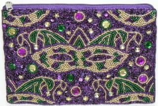 Beaded Mask Bag