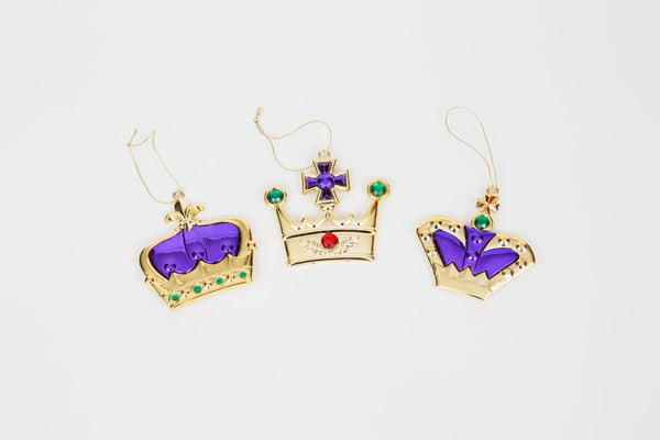 "3.5"" Crown Ornaments ASST"
