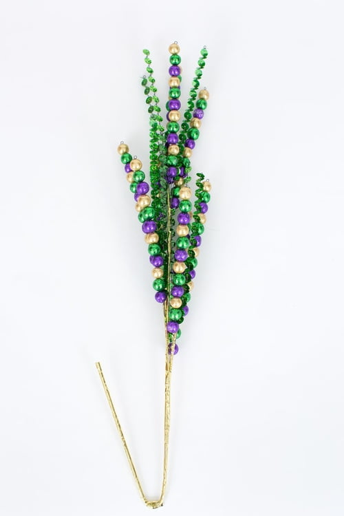 "26"" Mardi Gras Sequin and Berry Spray"