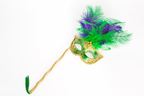 20-468 Mardi Gras Mask w/Handle