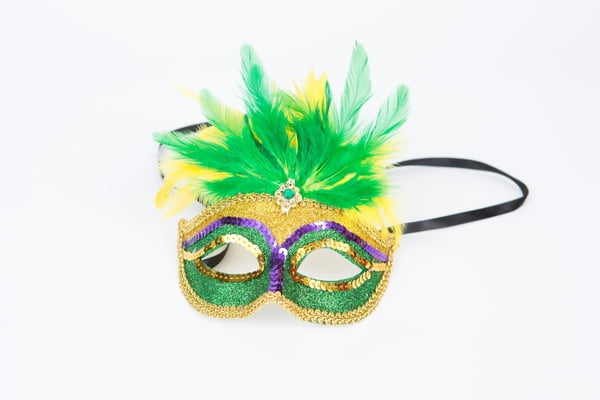 PGG Sequin Mask w/feathers