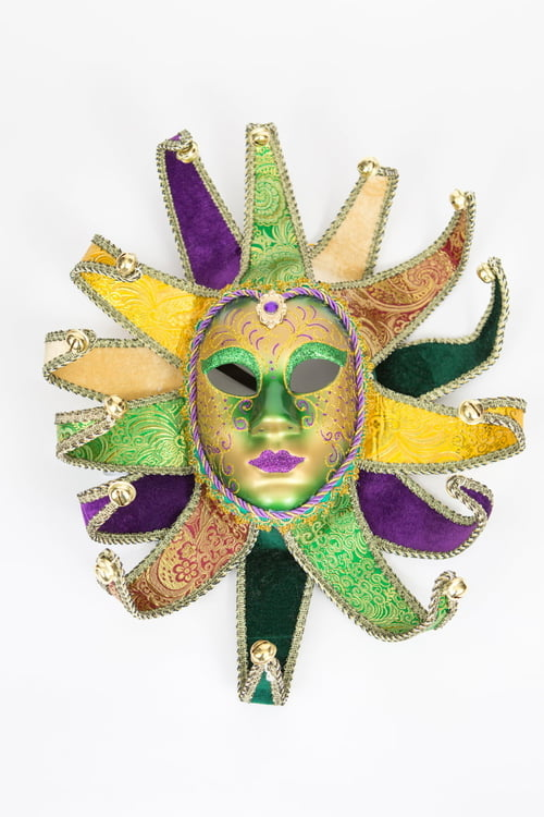Full Face Mardi Gras Mask