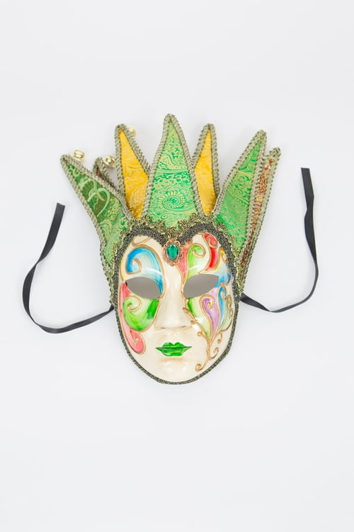 Colorful Mask w/ 7 Horns