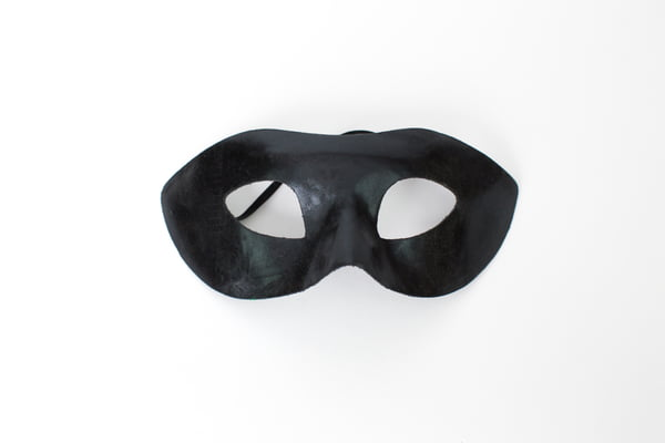 Black Simple Mask Fabric