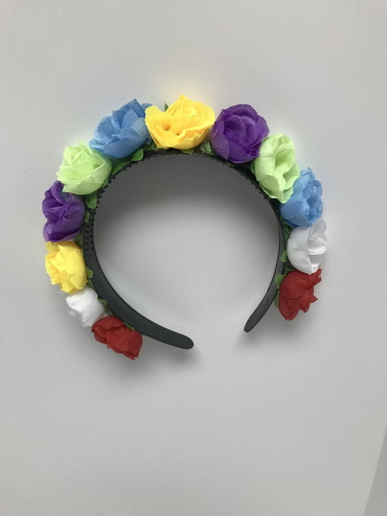 Multi Color Flower Headbaned