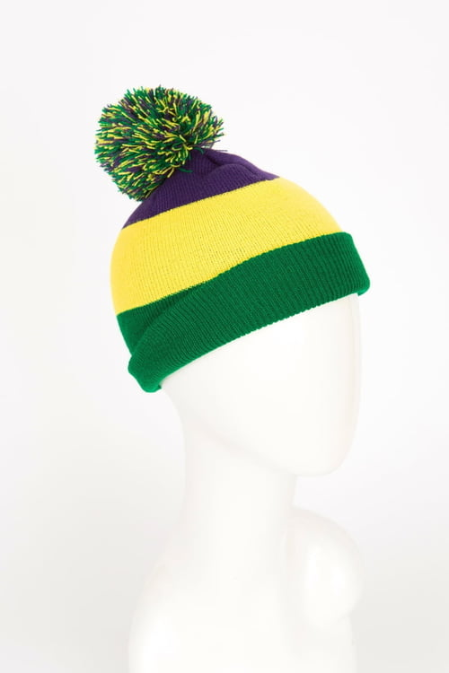 Mardi Gras Knit Hat