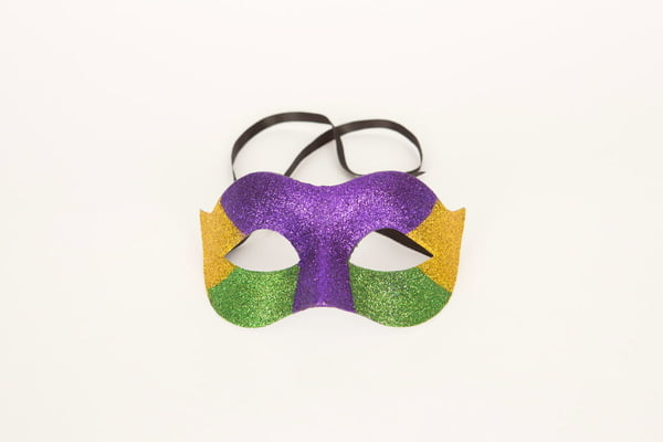Plastic Mask with Glitter