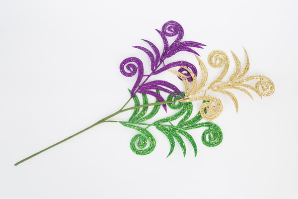 30-269 Mardi Gras Tri Color Stem