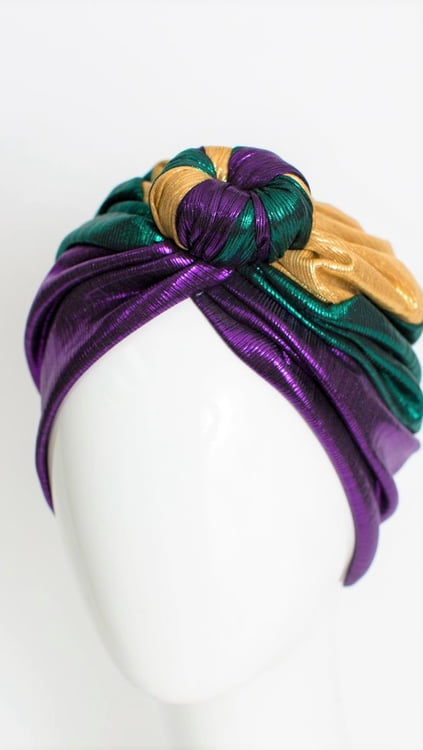 PGG Shimmer Turban w Knot in Front
