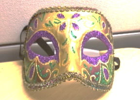 Gold Floral Mask w Paint/Glitter