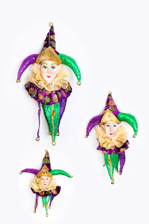 "CT950 12"" Hanging Jester Head Ornament"
