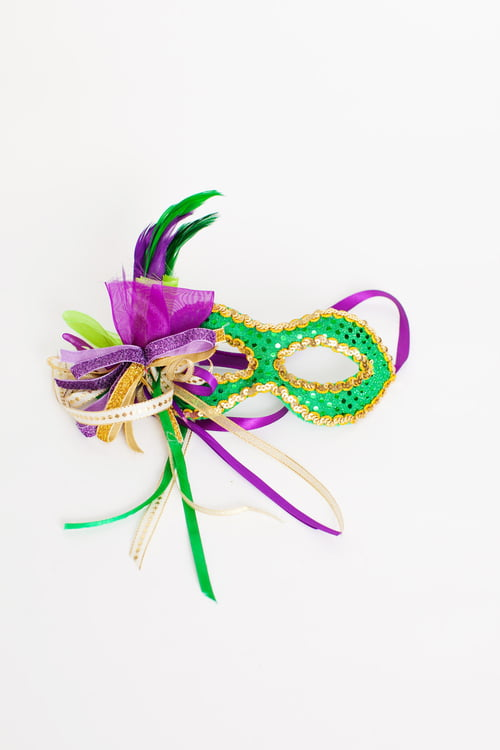 "7"" MARDI GRAS DECORATIVE MASK"