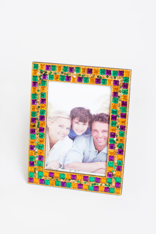 "4""X 6"" Jeweled Mardi Gras Frame"