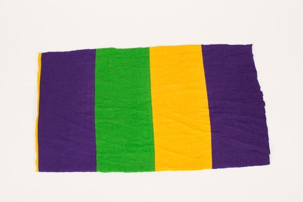 "NEW ITEMS!! Knit Mardi Gras Scarf 32"" x 72"""