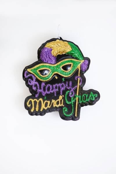 "20"" x 19"" Happy Mardi Gras Sign"