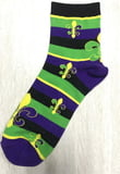 Mardi Gras Stripe FDL Men's Socks