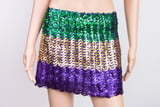 Sequin Flared Skirt