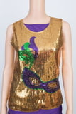 Mask Sequin Top