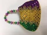 15-405 Mardi Gras Purse Ornament