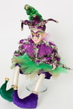 "17"" Sitting Kid Purple Dazzle Jester"