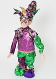 "22"" Standing Purple Dazzle Jester w Retractable Legs"