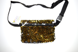 Black and Gold Sequin Fanny Pack